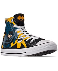 Men's Chuck Taylor All Star Batman High Top Casual Sneakers from Finish Line