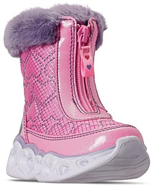 Toddler Girls Heart Lights Happy Hearted Winter Boots from Finish Line