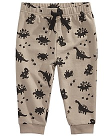 Baby Boys Allover Dinosaur Print Jogger Pants, Created For Macy's
