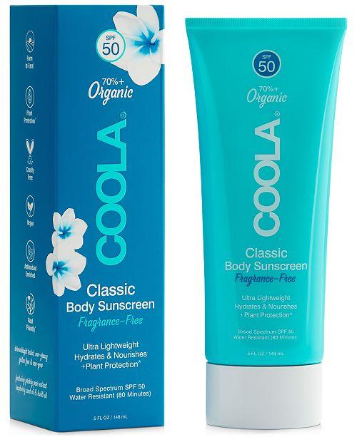 COOLA Classic Body Organic Sunscreen Lotion SPF 50 - Fragrance-Free