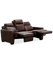 "Hayvon 90"" Leather Dual Power Sofa"
