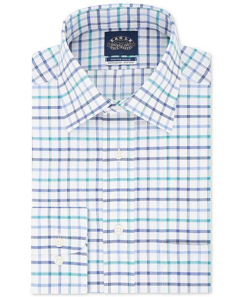 Men's Big & Tall ClassicRegular Fit Non Iron Flex Collar Check Dress Shirt
