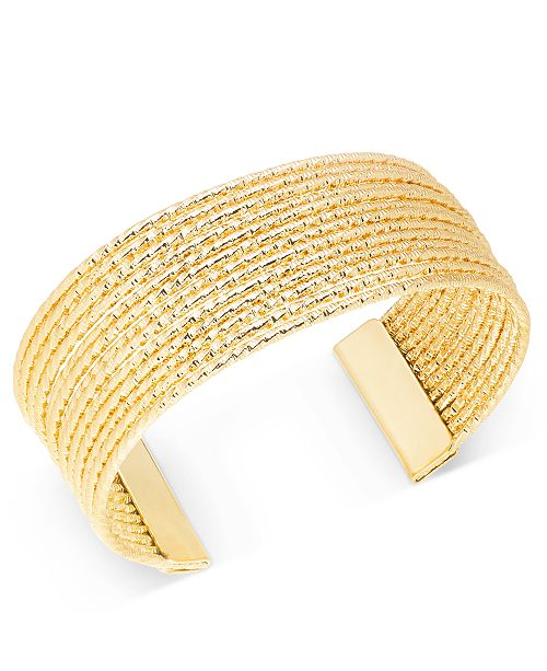 Charter Club Gold-Tone Twisted Wire Cuff Bracelet, Created for Macy's