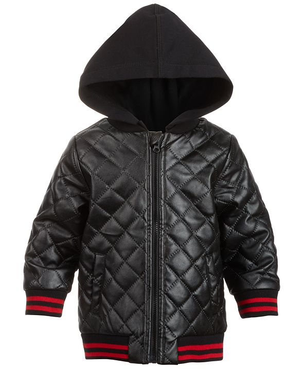 First Impressions Baby Boys Layered-Look Quilted Hooded Jacket, Created for Macy's