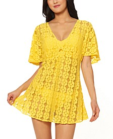 O-Ring Crochet Swim Cover-Up Dress