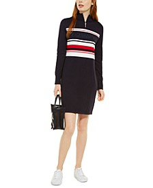 Quarter-Zip Sweater Dress