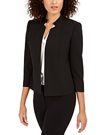 Star-Collar Open-Front Blazer