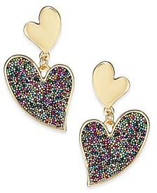 INC Gold-Tone Multicolor Bead Drop Earrings, Created For Macy's