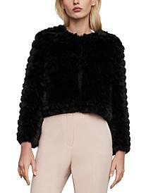 Cropped Faux-Fur Jacket