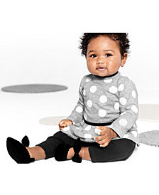 Carter's Baby Girls 2-Pc. Cotton Dot-Print Skirted Bodysuit & Pants Set