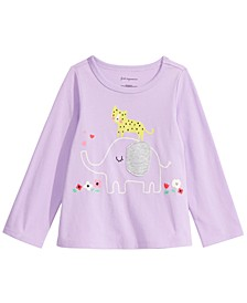 Toddler Girls Long-Sleeve Elephant T-Shirt, Created For Macy's