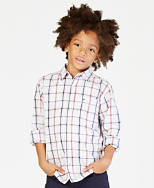 Check Buttondown Cotton Shirt, Big Boys
