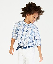 Ethan Long-Sleeve Woven Plaid Shirt, Big Boys