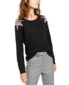 INC Star-Shoulder Sweatshirt, Created For Macy's