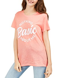 Juniors' Nothing Basic About Me Graphic Print T-Shirt