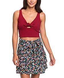 Belted Floral-Print Skirt