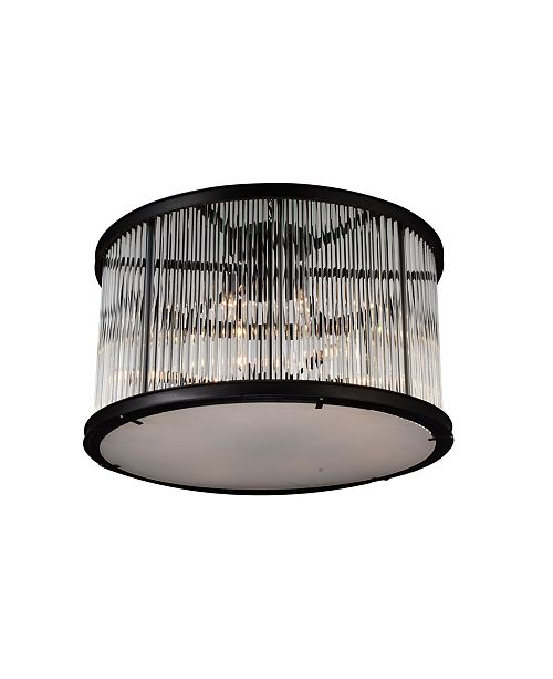 CWI Lighting CLOSEOUT! Mira 12 Light Flush Mount