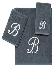 Grey Script Monogram 3-Pc. Towel Set
