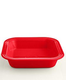 """Fiesta Scarlet 9"""" Square Baker"""