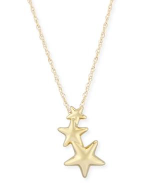 Triple Star Crawler Necklace Set in 14k Gold
