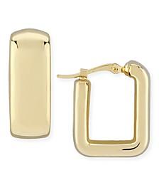 Bold Square Hoop Earrings Set in 14k Gold