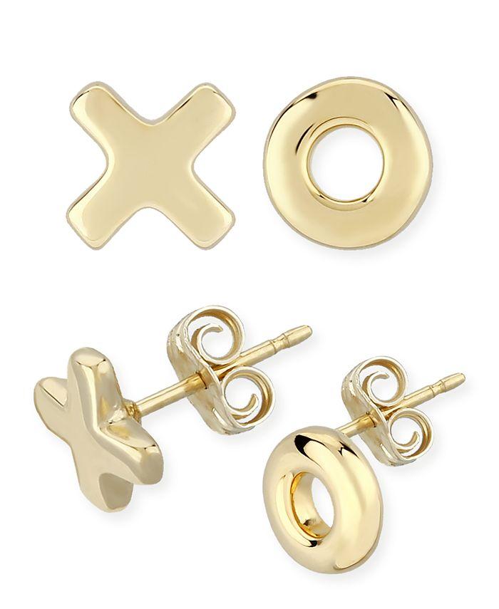 Macy's - X & O Stud Earrings Set in 14k Yellow Gold (8mm)