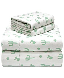 Printed Flannel King Sheet Set