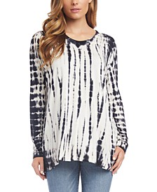 Tie-Dyed Dolman-Sleeve Top