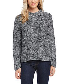 Marled-Knit Sweater