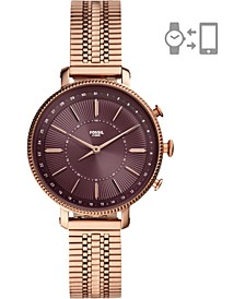 Women's Cameron Rose Gold-Tone Stainless Steel Mesh Bracelet Hybrid Smart Watch 36mm