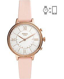 Women's Jacqueline Blush Silicone Strap Hybrid Smart Watch 36mm
