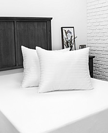 Down Alternative Bed Pillow with 300 Thread Count Cotton Cover - 2 Pack
