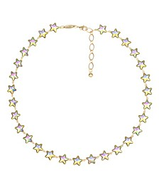 Gold-Tone Star Collar Necklace