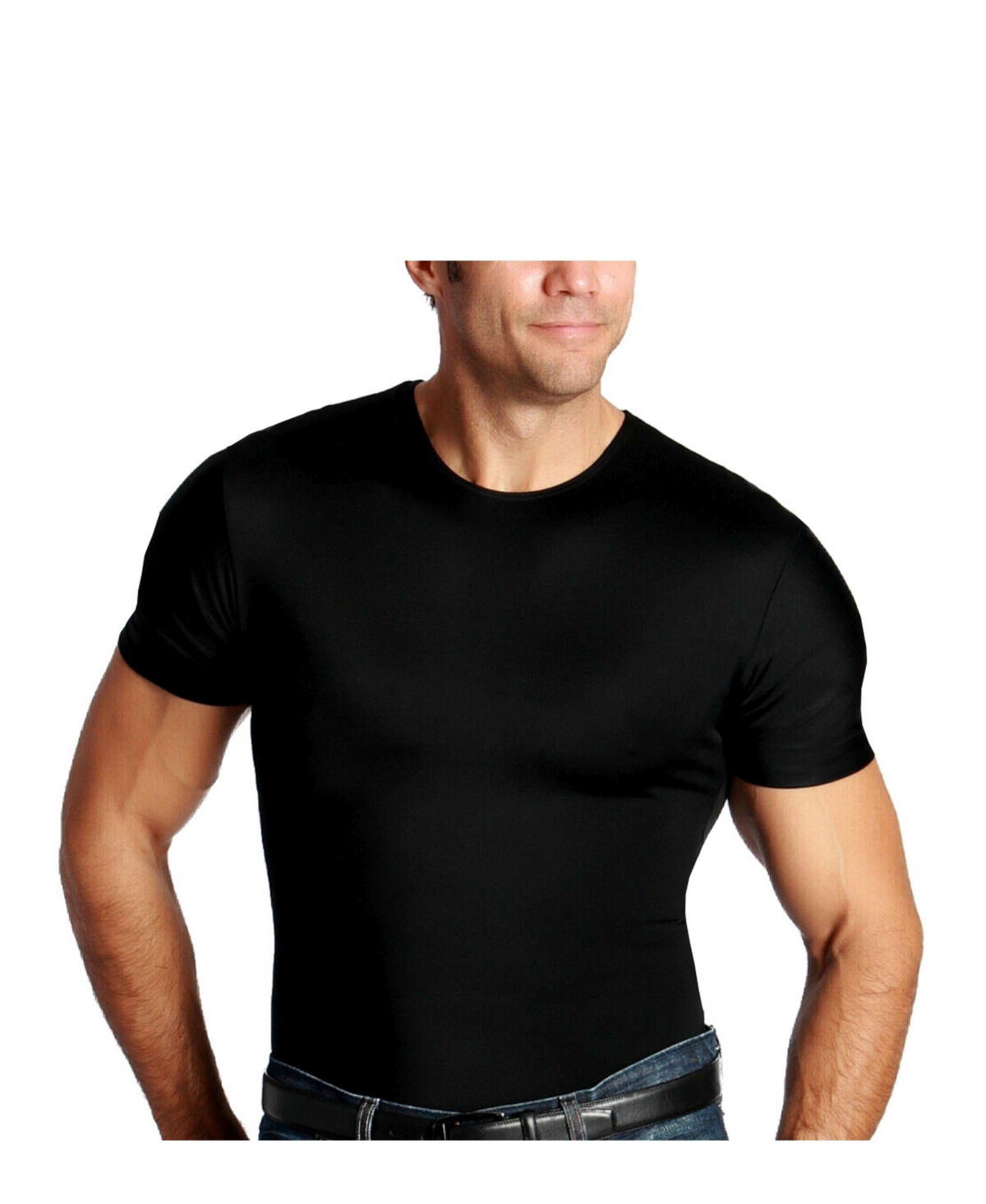 Insta Slim Men's Compression Short Sleeve Crew-Neck T-Shirt