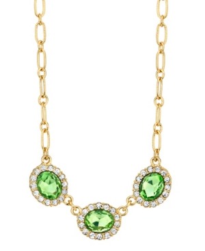 Peridot with Crystal Accent Necklace