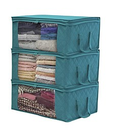 Storage Fiber Clothing Organizer Bags, Set of 3