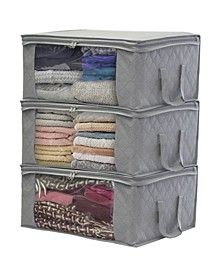 Storage Fiber Clothing Organizer Bags, Set of 3