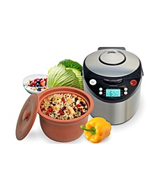 Smart Organic Digital Express - A Rice Slow Cooker, A Digital Steamer and A Yogurt Maker, 3.2 QT