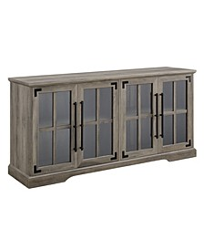 Farmhouse 4-Door TV Console