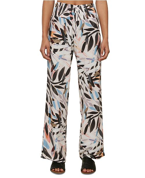 O'Neill Juniors' Johnny Floral-Print Soft Pants
