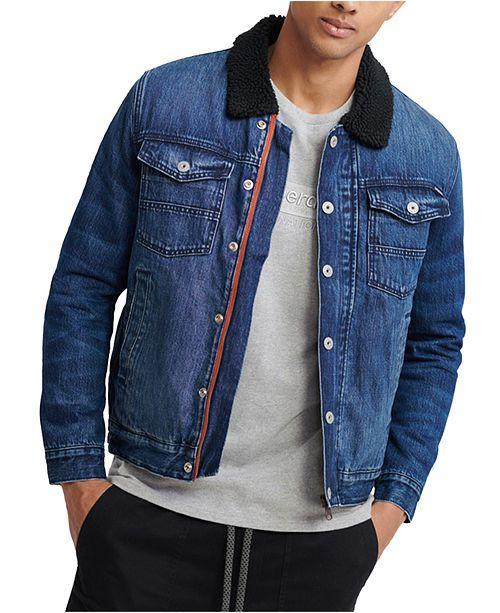 Superdry Men's Hacienda Sherpa Denim Jacket