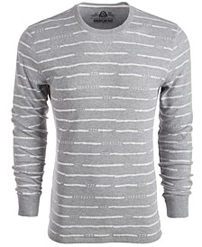Men's Striped Thermal Shirt, Created For Macy's