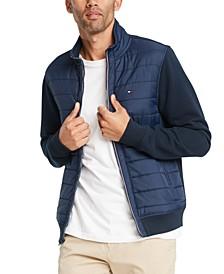 Men's David Regular-Fit Mix-Media Full-Zip Sweatshirt