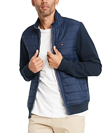 Tommy Hilfiger Men's David Full-Zip Mixed Media Jacket