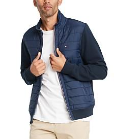 Tommy Hilfiger Men's David Full-Zip Mixed Media Jacket