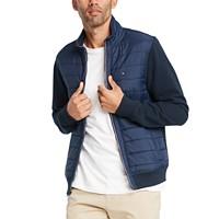 Deals on Tommy Hilfiger Mens David Mix-Media Full-Zip Sweatshirt