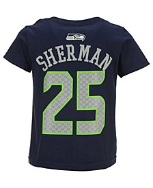 Toddlers Richard Sherman Seattle Seahawks Mainliner Player T-Shirt