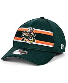 Miami Hurricanes Team Color Stripe 39THIRTY Cap