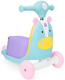 Zoo 3-in-1 Ride-On Unicorn Toy Scooter