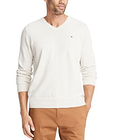 Men's Signature Regular-Fit Solid V-Neck Sweater